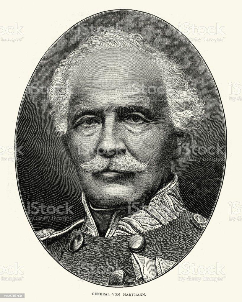 General Jakob von Hartmann vector art illustration
