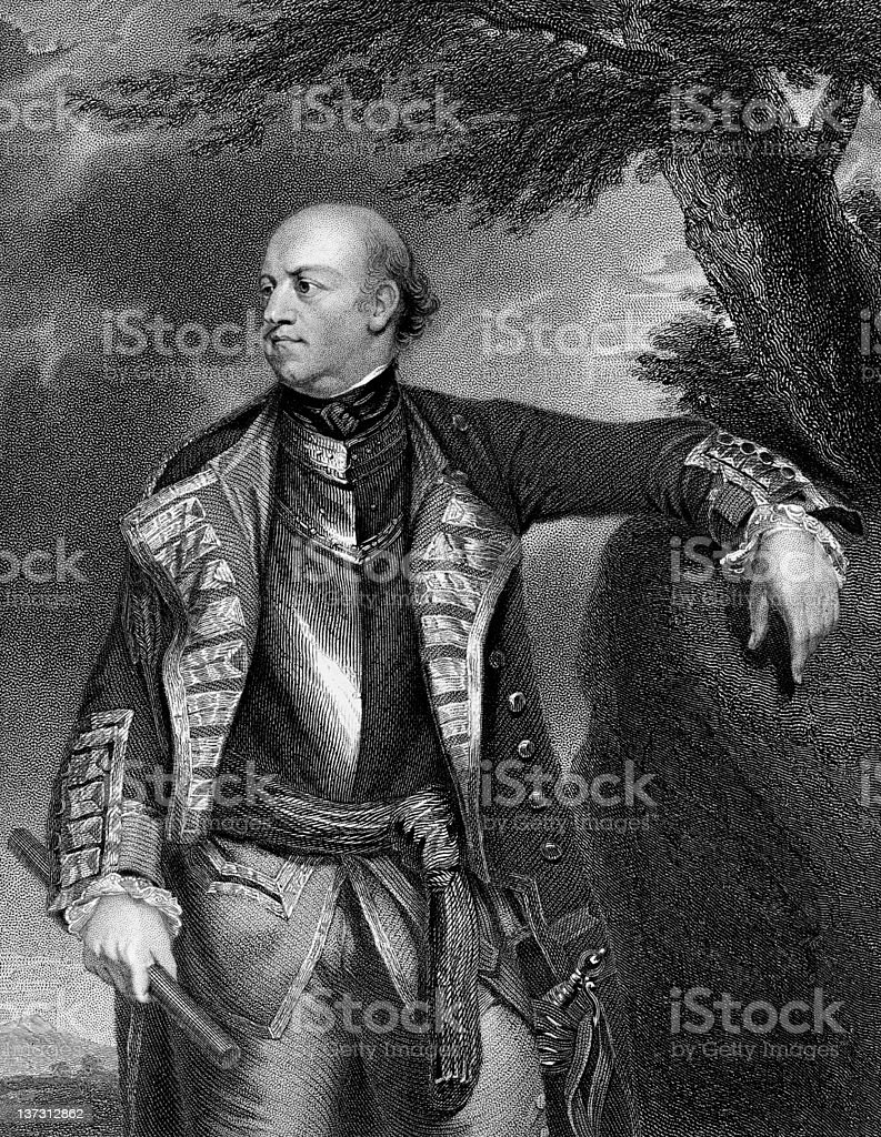 General John Manners, Marquis of Granby royalty-free stock vector art