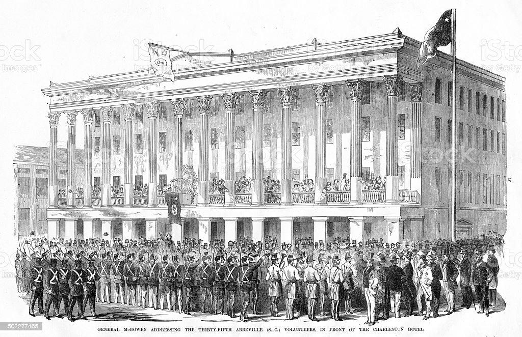 General McGowan, Charleston, SC vector art illustration