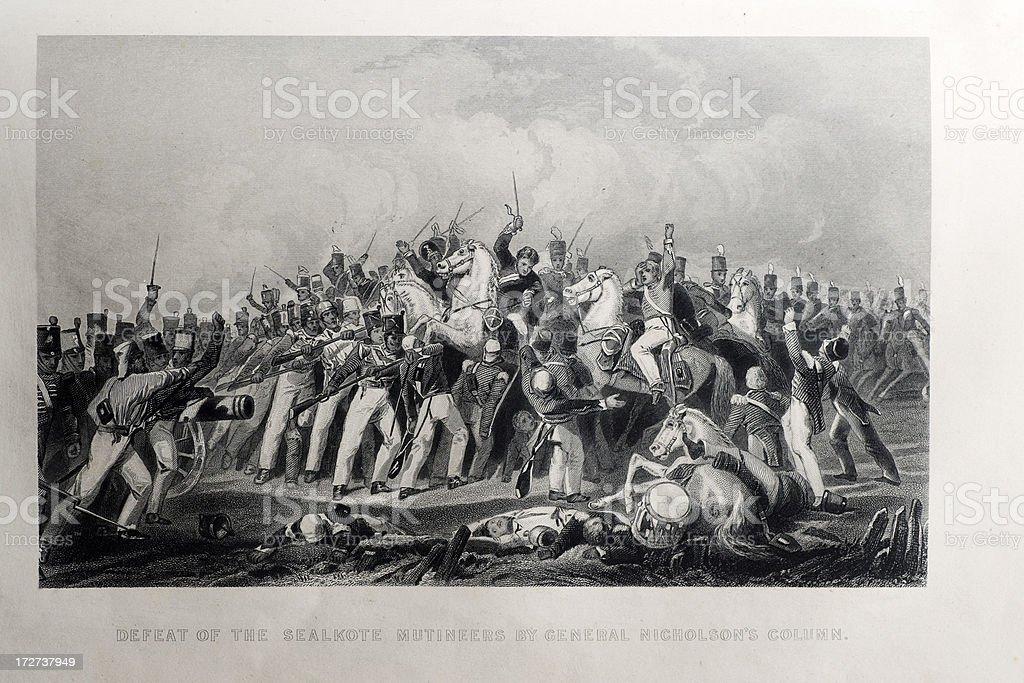 General Nicholson's column royalty-free stock vector art