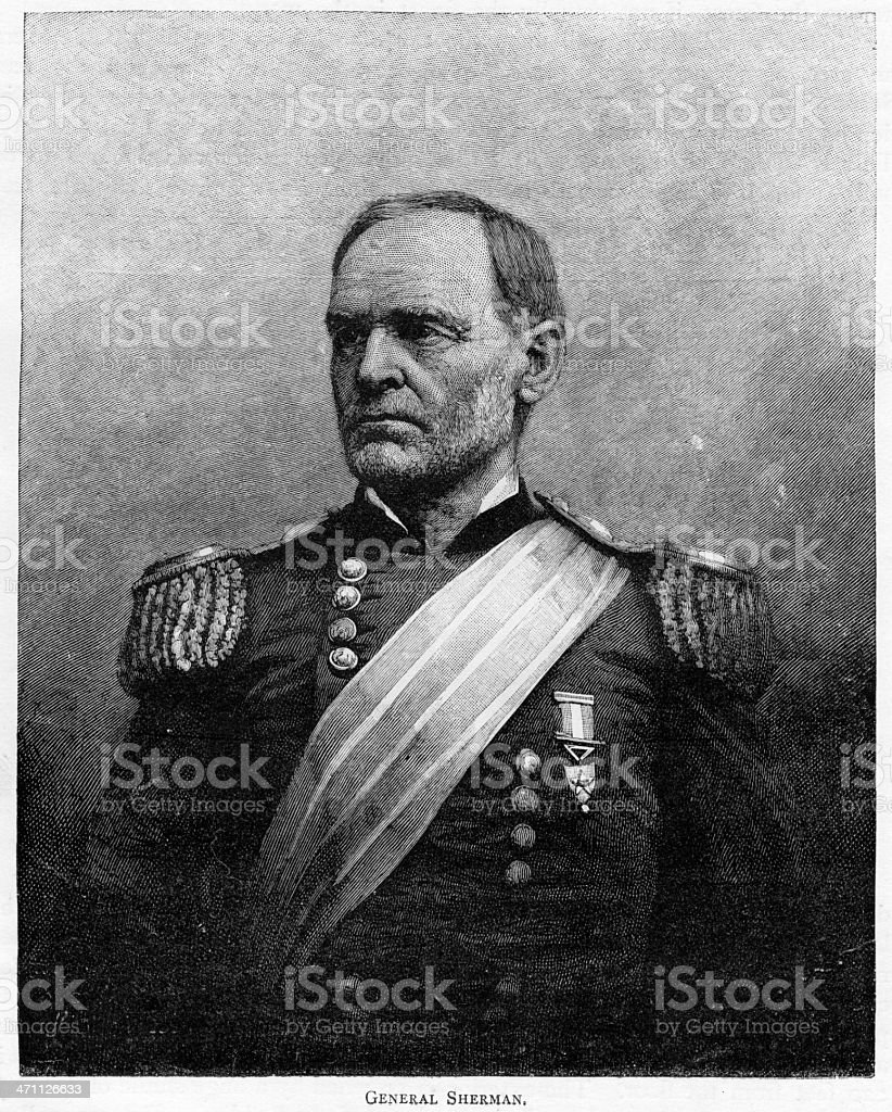 General Sherman royalty-free stock vector art