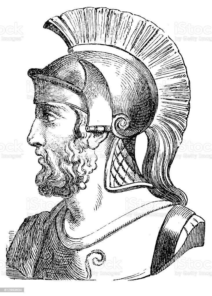 General Themistocles vector art illustration