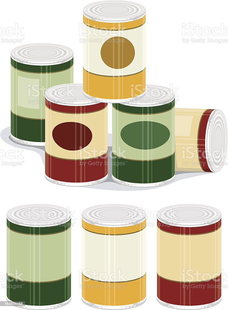Generic Canned Goods vector art illustration
