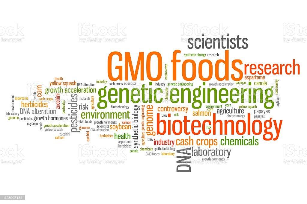 Genetic food engineering vector art illustration