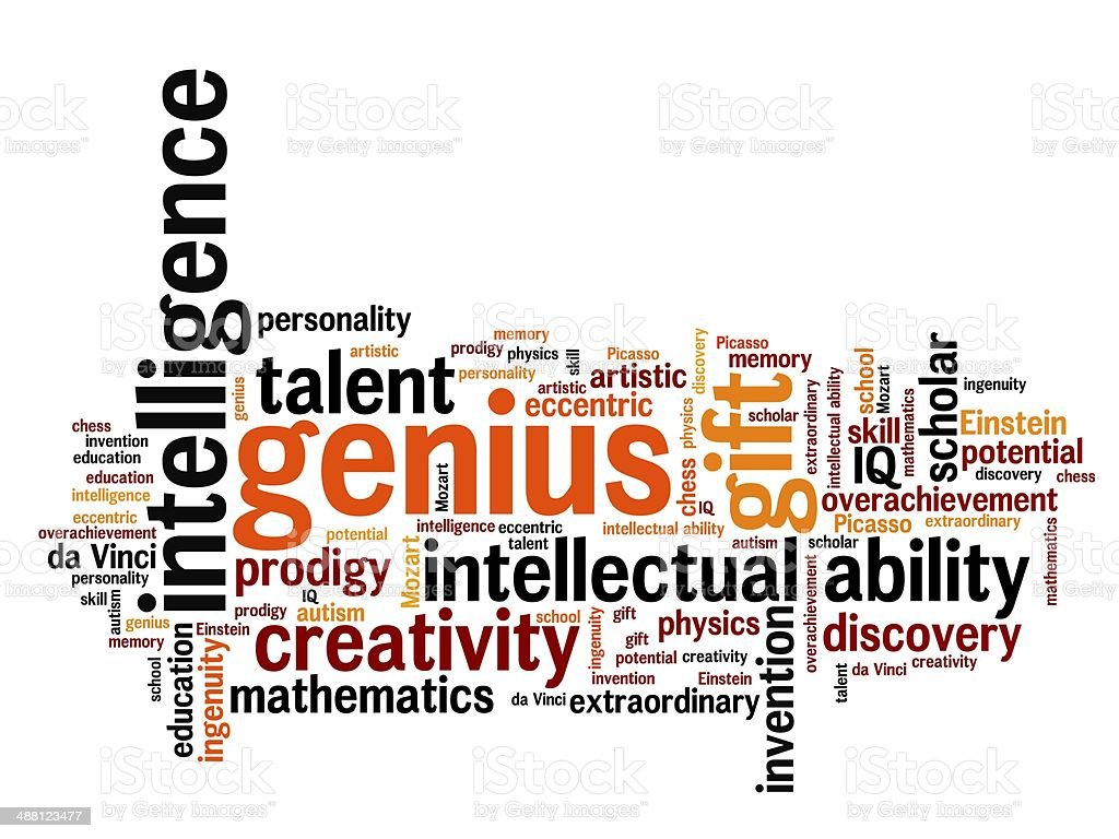 Genius vector art illustration