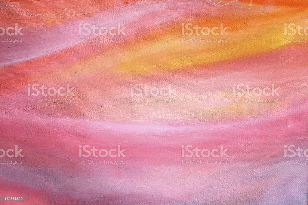 Sanfte Sonnenuntergang Gemälde – detail Lizenzfreies vektor illustration