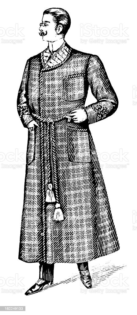 Gentleman | Antique Design Illustrations royalty-free stock vector art