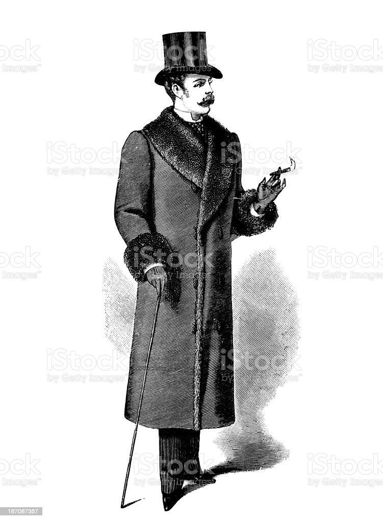 Gentleman,19th Century vector art illustration