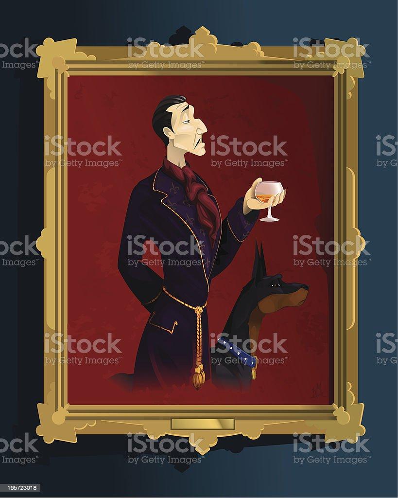 Gentleman's portrait vector art illustration