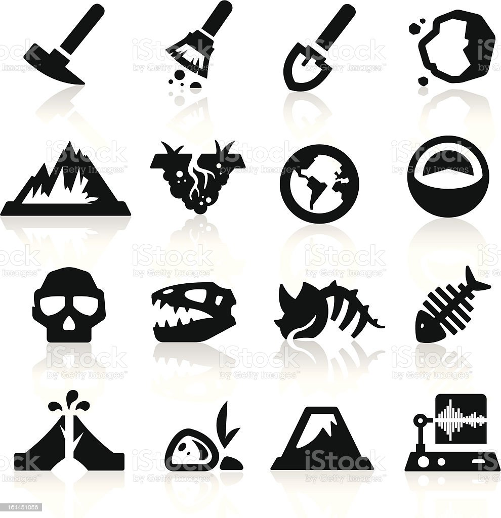 Geology icons vector art illustration