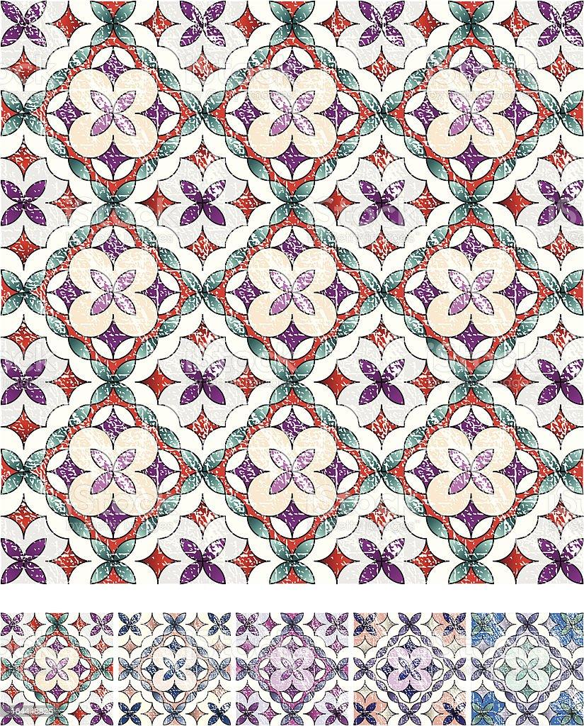 Geometrical grunge ornament royalty-free stock vector art