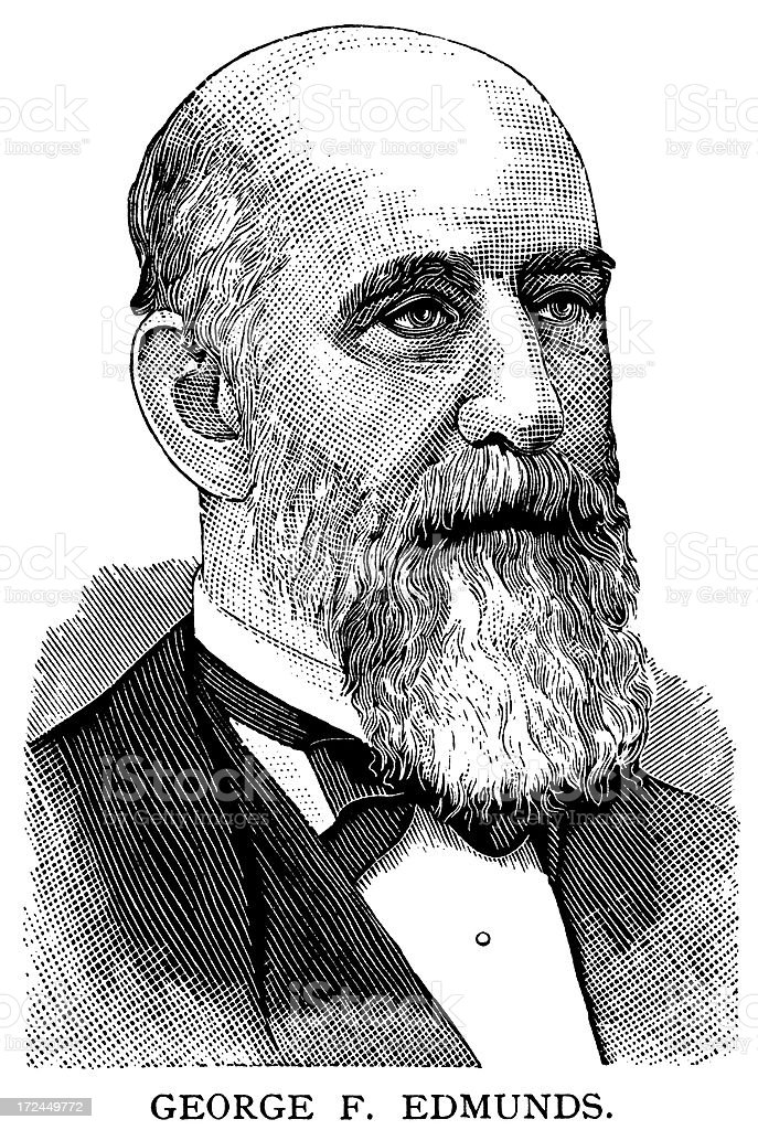 George F. Edmunds royalty-free stock vector art