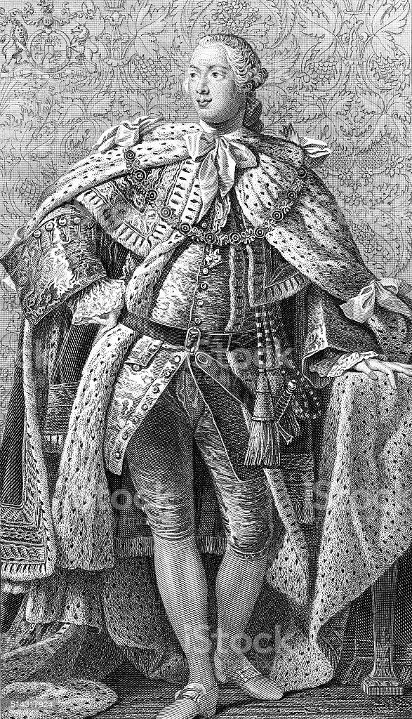 George III vector art illustration