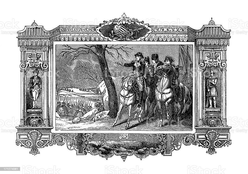 George Washington Crossing the Delaware River | Historic American Illustrations royalty-free stock vector art