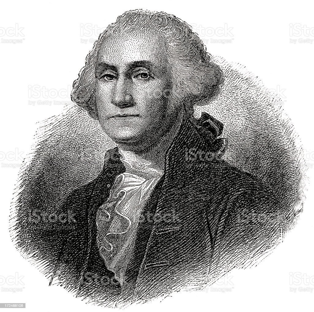 George Washington,1st President of the United States royalty-free stock vector art