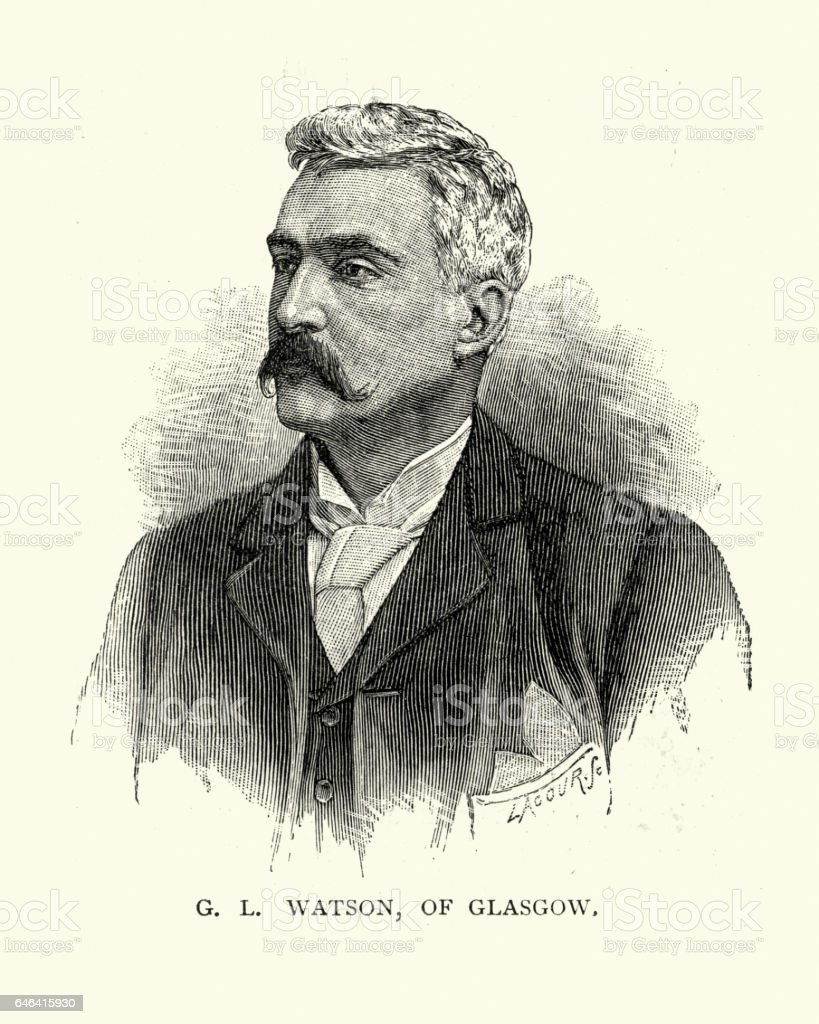 George Watson of Glasgow, Victorian yacht builder vector art illustration