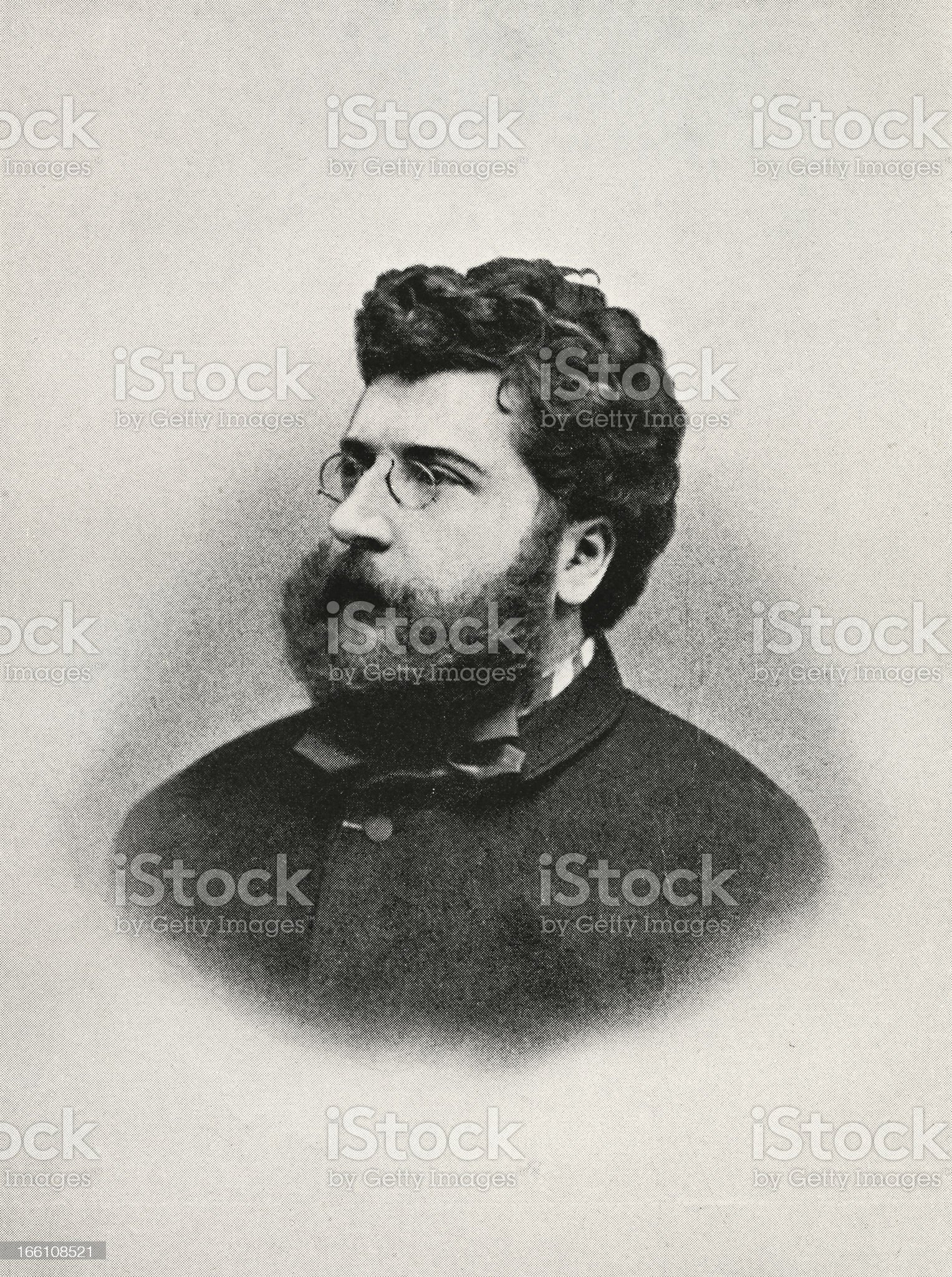 Georges Bizet royalty-free stock vector art