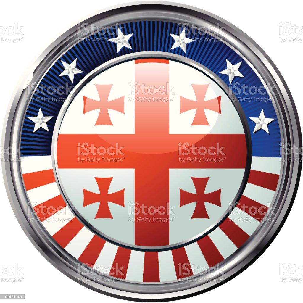 Georgia flag royalty-free stock vector art