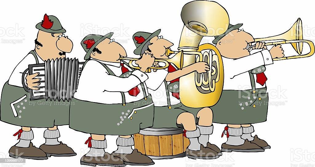 German band vector art illustration
