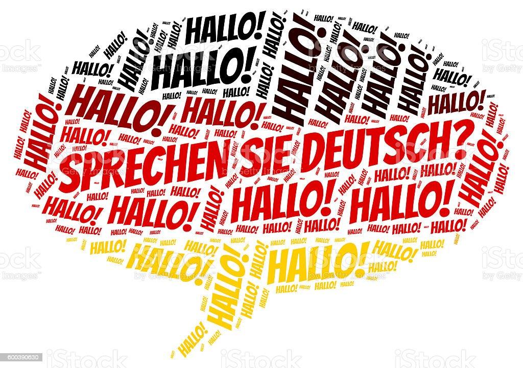 German language vector art illustration