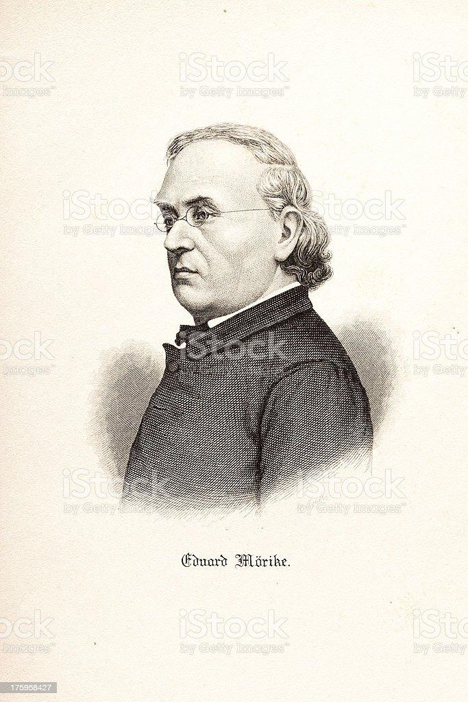 German romantic poet Eduard Friedrich Mörike royalty-free stock vector art