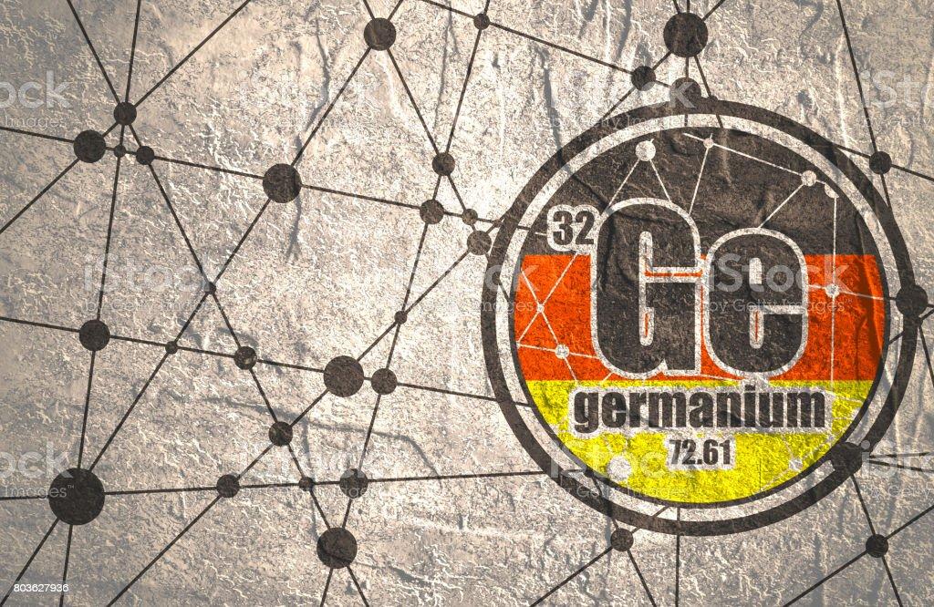 Germanium chemical element. vector art illustration