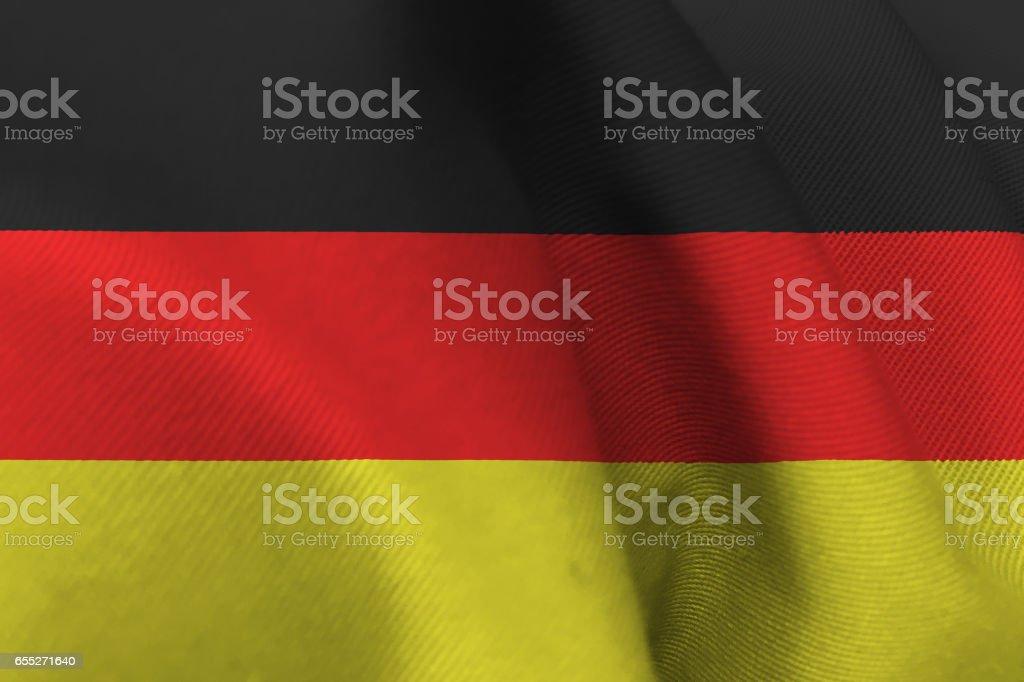 Germany national flag 3D illustration symbol. vector art illustration