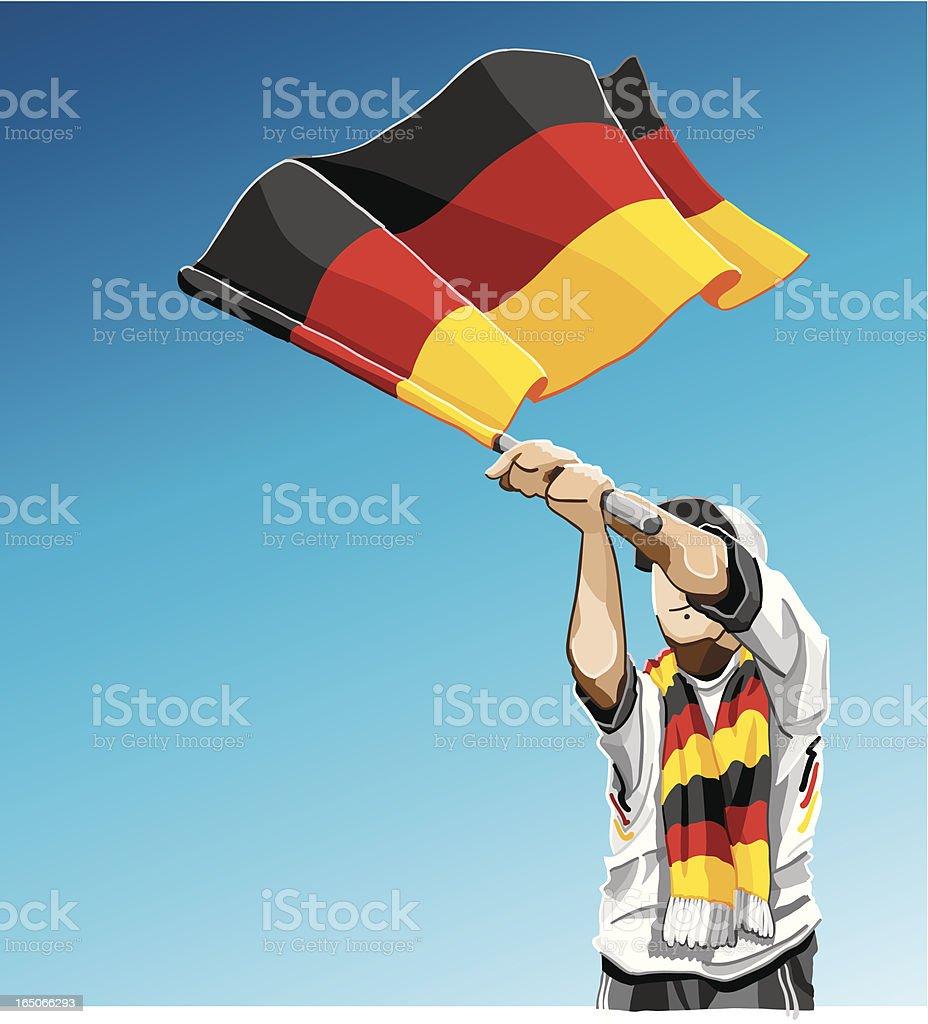 Germany Waving Flag Soccer Fan royalty-free stock vector art