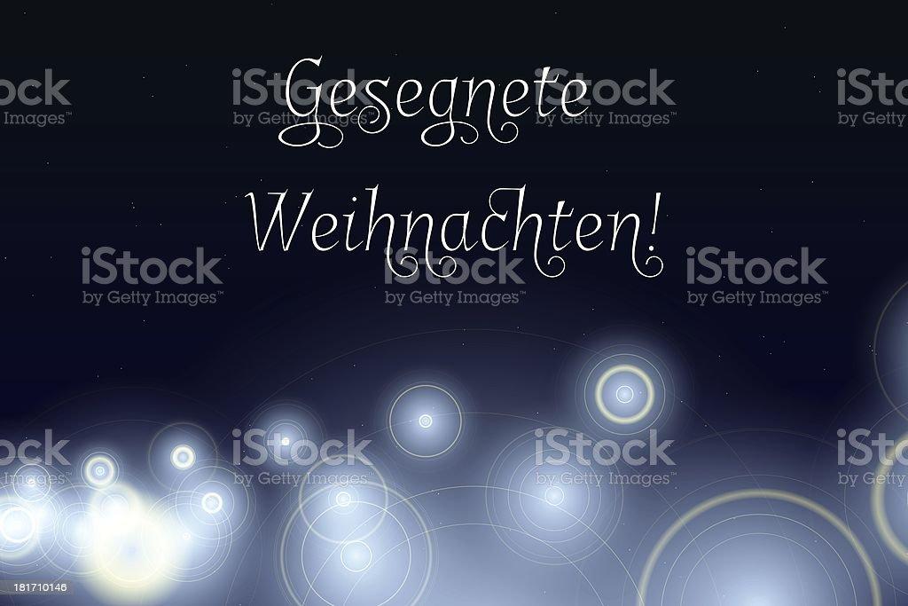 Gesegnete Weihnachten - Merry Christmas in german royalty-free stock vector art