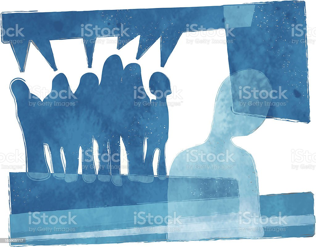 getting bullied royalty-free stock vector art