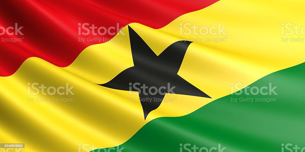 Ghana flag. royalty-free stock vector art