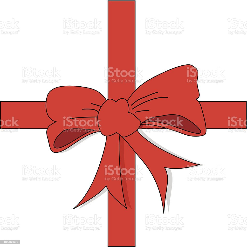 Gift bow vector art illustration