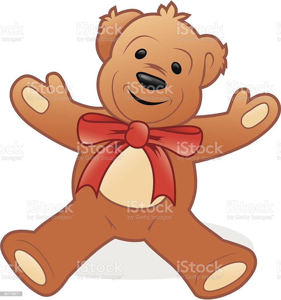 Regalo de navidad bear illustracion libre de derechos libre de derechos