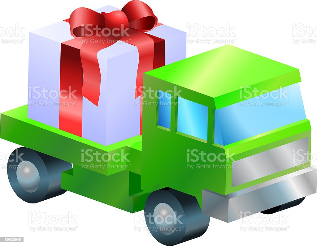 gift delivery illustration royalty-free stock vector art