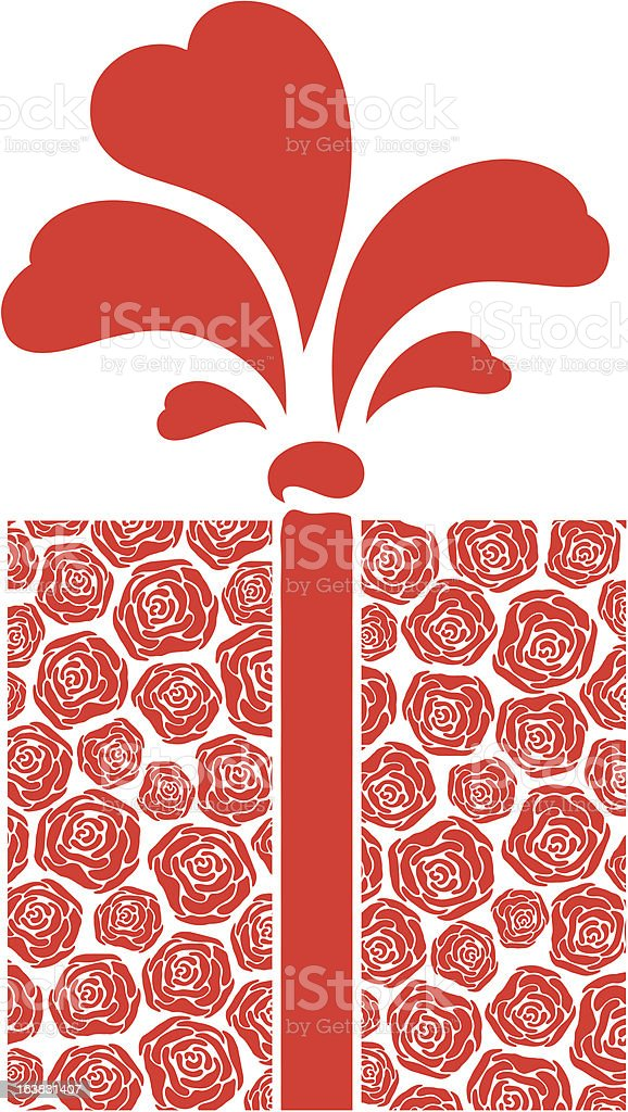 gift of roses royalty-free stock vector art