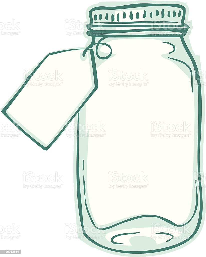 gift tag jar vector art illustration