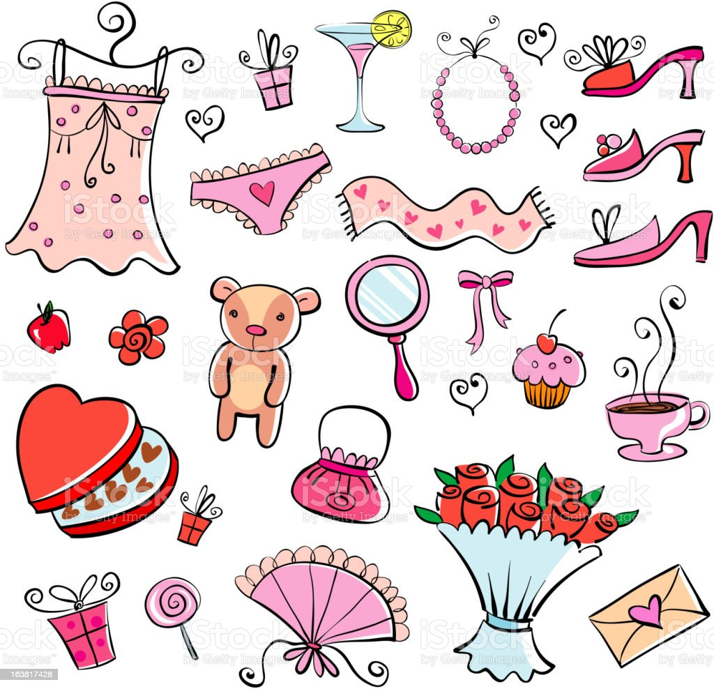 Gifts for  girl royalty-free stock vector art