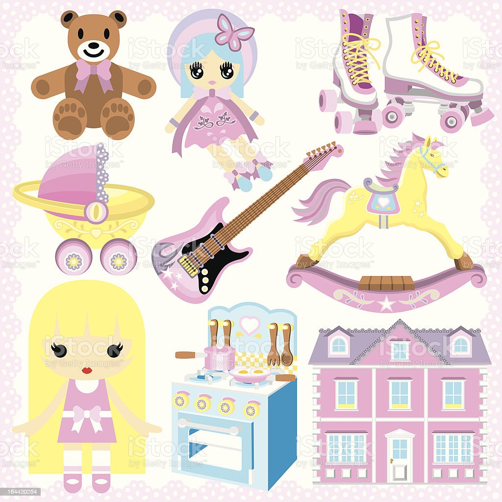 Gifts For Girls royalty-free stock vector art