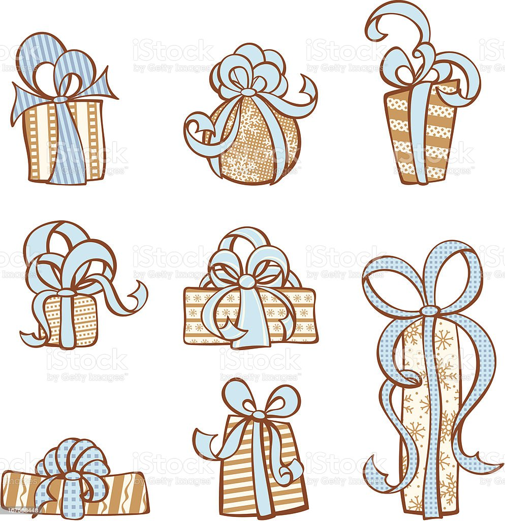 Gifts icon set royalty-free stock vector art