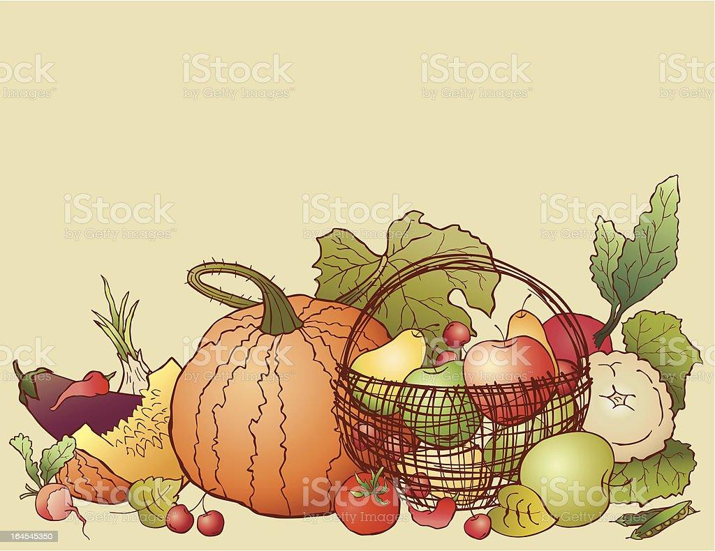Gifts of autumn vector art illustration