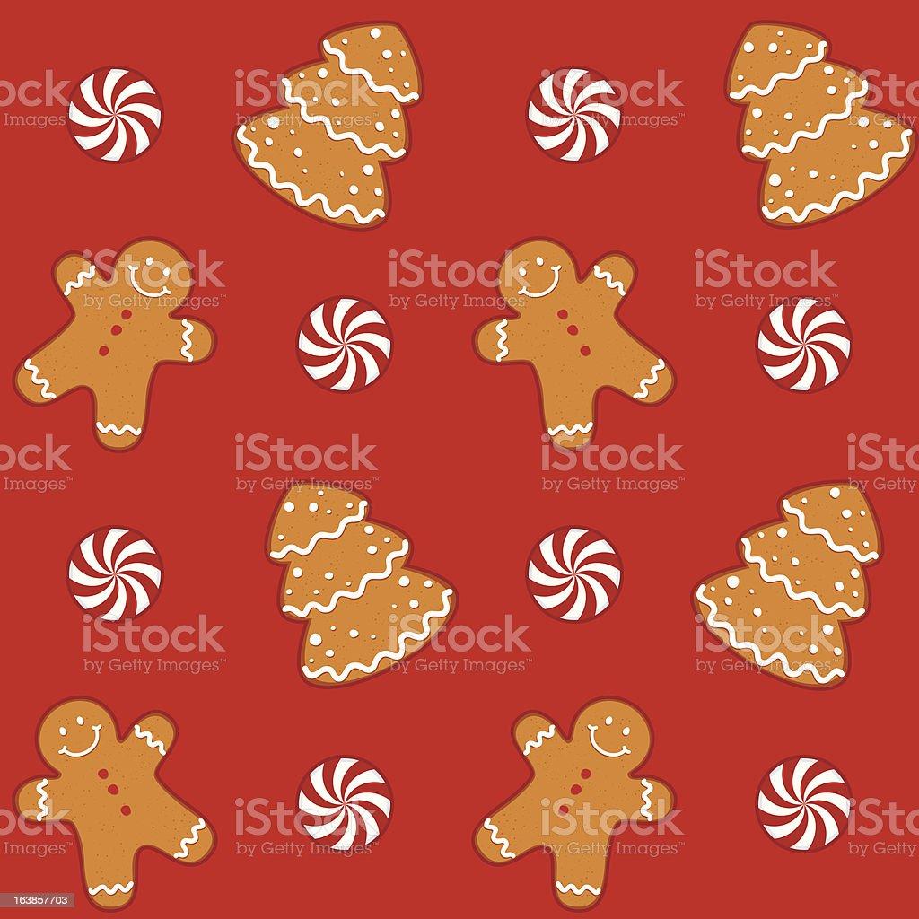 Gingerbread Cookies Seamless Pattern royalty-free stock vector art