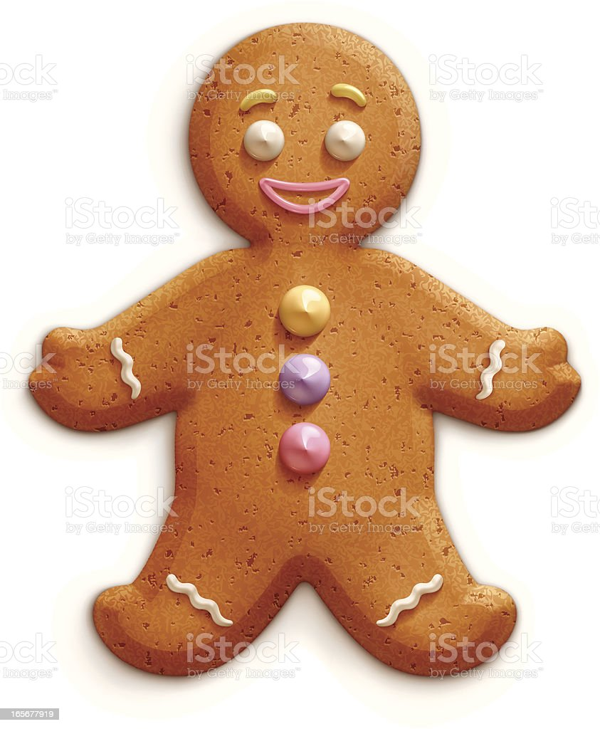 Gingerbread man royalty-free stock vector art