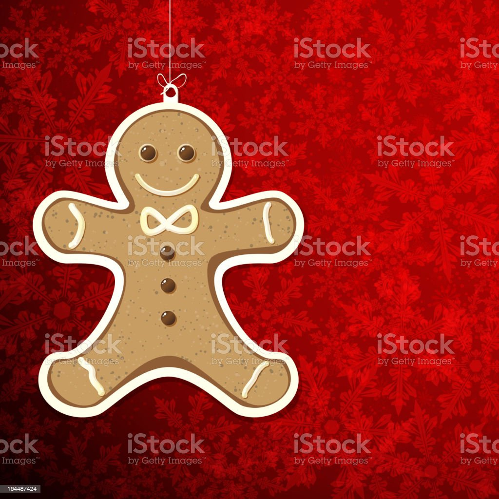 Gingerbreadman royalty-free stock vector art