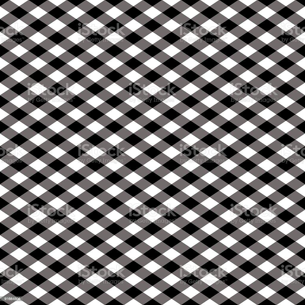 Gingham Pattern in Black and White vector art illustration