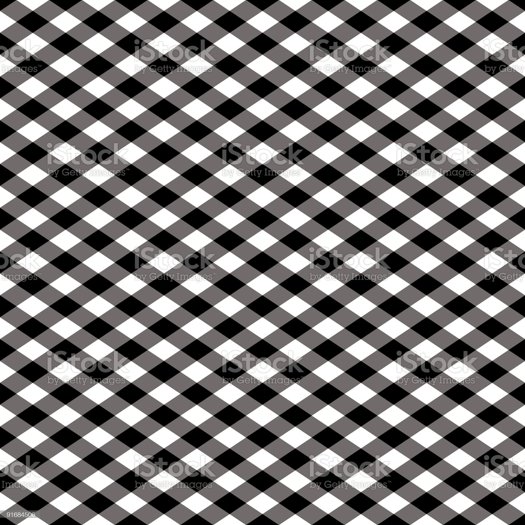 Gingham Pattern in Black and White royalty-free stock vector art