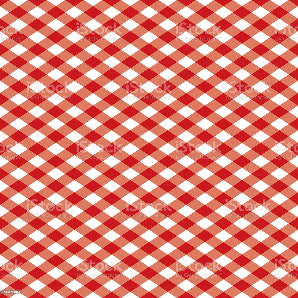 Gingham Pattern in Red and White vector art illustration