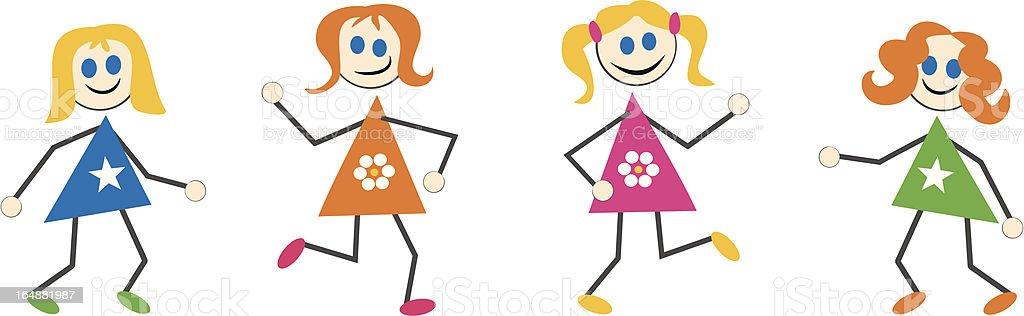 Girl Kids royalty-free stock vector art