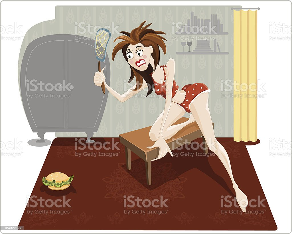 girl on a diet royalty-free stock vector art