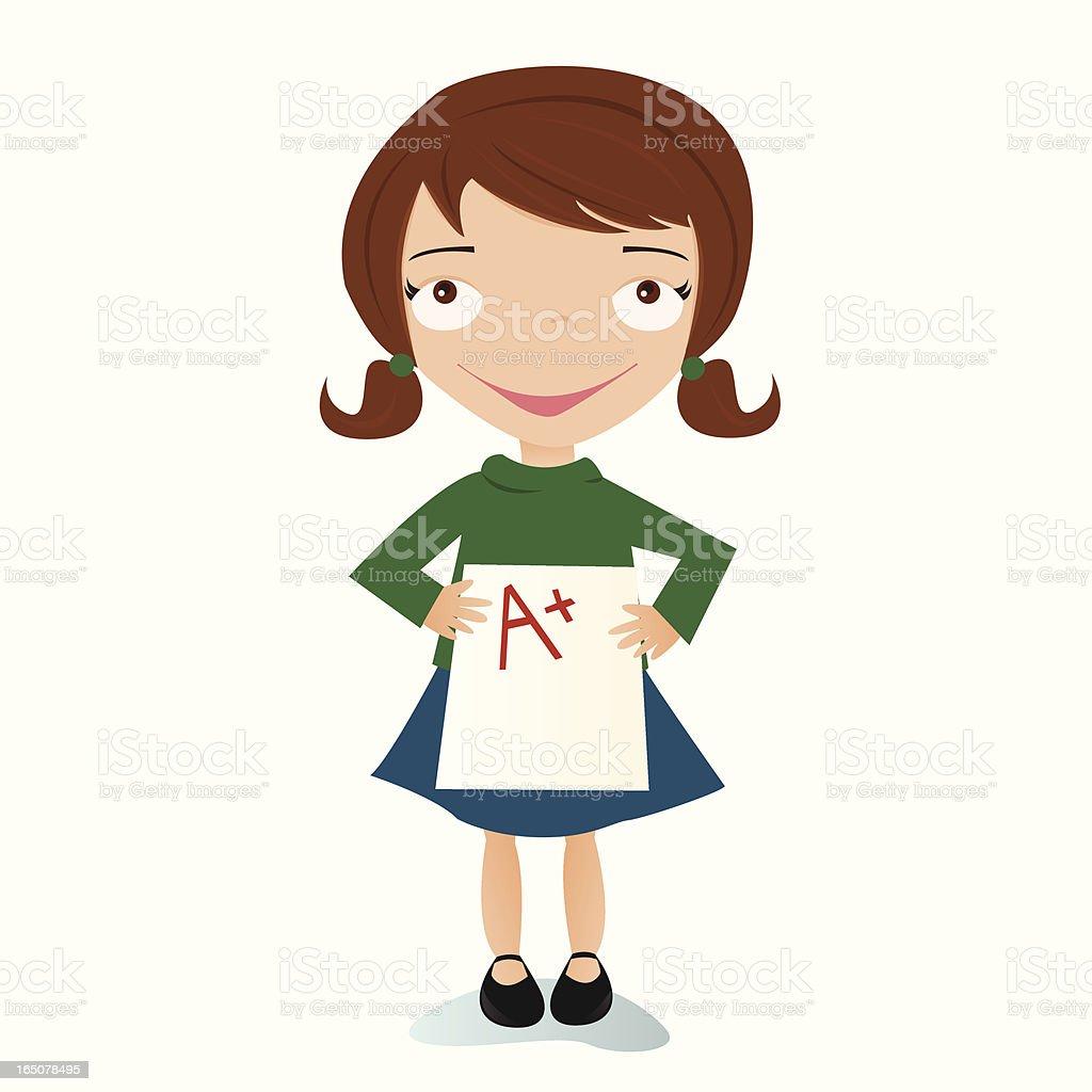 girl a good grade stock vector art 165078495 istock girl a good grade royalty stock vector art