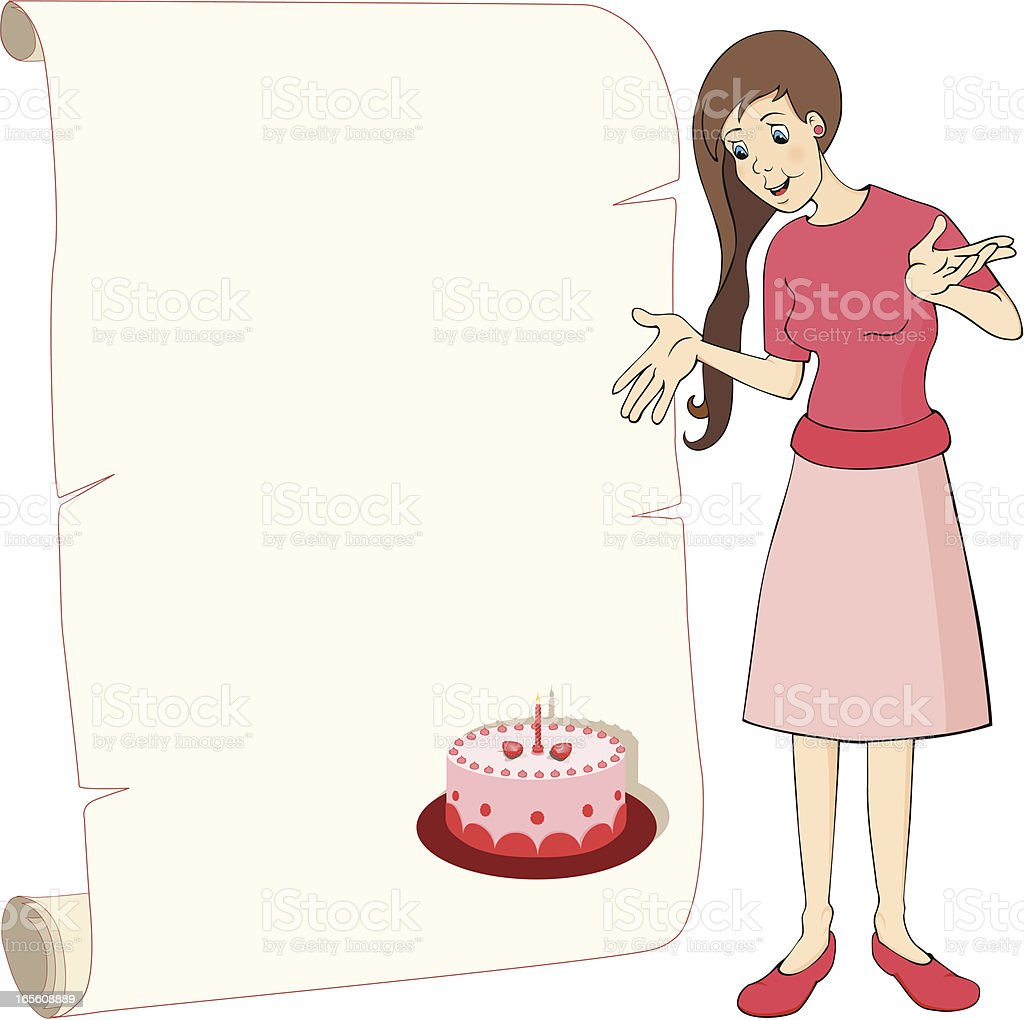 girl with tart royalty-free stock vector art